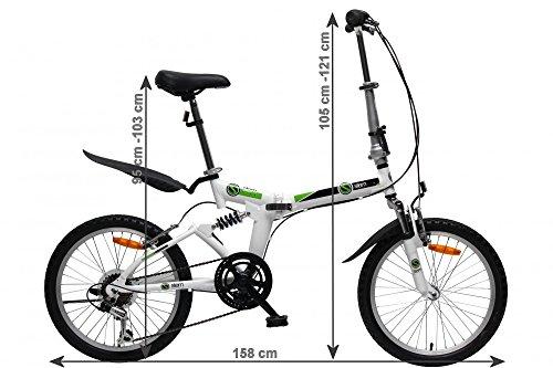 Stem Faltrad 20′ Zoll mit 6 Gang SHIMANO Gangschaltung und Aluminium Rahmen - 2