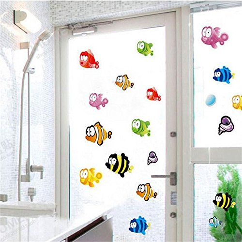 51z8ezqN3OL - Zooarts Ocean Sea Bubble Fishes Removable Space Bathroom Window Wall Sticker Decals Vinyl Decor Children's Room Nursery Mural