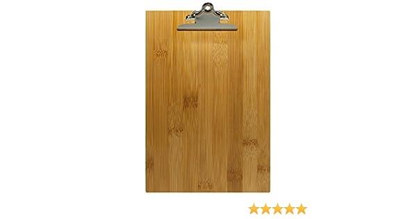 bamb/ù Naturale 25,5 x 0,5 cm Decor Service Portablocco Formato A5
