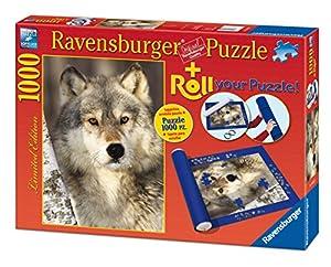 Ravensburger - Roll your puzzle + puzzle 1000 piezas, diseño Lobos (19911 2)