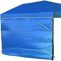 NINAT Lado Parasol Pared de Tela Impermeable para 3M Gazebo Canopy (Gazebo no Incluido), Azul