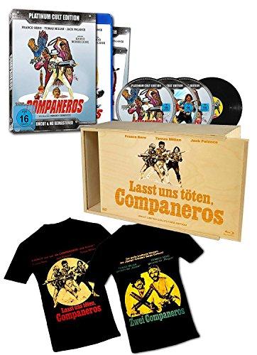 Companeros - Sonderedition in Holzbox - limitierte Auflage von 500 Stück!! (4er-Disc Edition: Blu-Ray + 2 DVDs + Audio-CD + T-Shirt beidseitig bedruckt) [Limited Edition] -