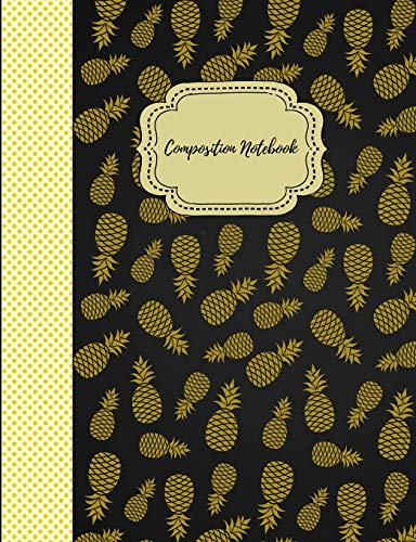 Composition Notebook: Graph Paper Quadrille Journal Grid for Math  Science  5 X 5 Cute Pineapple Design Black - 5 X Azalea