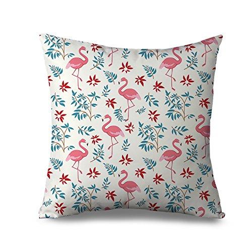 Flamingo Kissen Sham für Sofa Kissenbezug, 45x 45cm Sofa Kissen abdeckt, Günstige Leinwand Shabby Chic Deko Kissen für Couch -