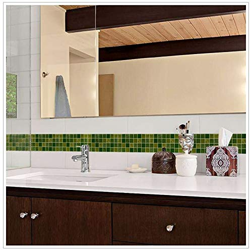 Cenefa pared autoadhesiva gresites verde ideal dormitorio
