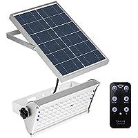65LED 1500LM solar Motion Sensor luz luces de seguridad IP65 impermeable 2 modos Super brillante de acero inoxidable energía luces para valla publicitaria, patio, jardín