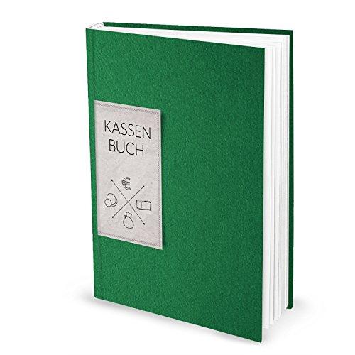 Ordnungsgemäßes Kassenbuch DIN A4 (Hardcover) in grün für Barzahlungen zur einfachen Übersicht der Finanzen und Geld-Einnahmen und Ausgaben; 148 Seiten; ideal auch als Geschenk! 1a Qualität