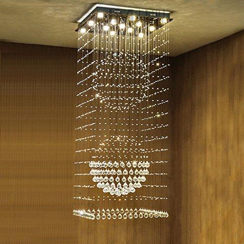 $Beleuchtung Spiral Treppenhaus Kristall Kronleuchter, Duplex Boden Gebäude Villa Großes Wohnzimmer Led Kronleuchter Innenleuchten ( größe : 13lights/80*80*200cm ) (Hanf-gebäude)