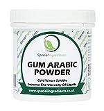 Special Ingredients Gummi Arabicum Pulver (Acacia Pulver) 100g (Deutsche Etiketten und Anleitungen)