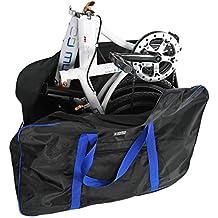 Bolsa de Transporte Bicicleta Maletas de Viaje con Bolsa de Sillín para Bicicleta Plegable de 14