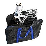 Bolsa de transporte Bicicleta Maletas de Viaje con Bolsa de Sillín para Bicicleta Plegable de 14-20 pulgadas