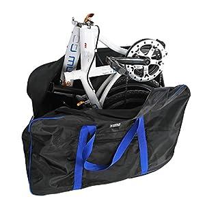 51z8hOZdabL. SS300 Borsa da Viaggio per Bici con Sacchetto della Sella, Sacchetto di Trasporto per Bicicletta Pieghevole da 16-20 pollici