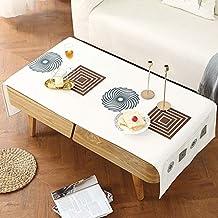 QAQ Mantel De Algodón Y Lino Impresión Digital Mesa De Café Bolsillo Simple Arte Rectángulo,