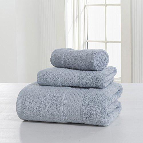 Set Asciugamani, Cotone, Più Colore, Confezione Da 3 ( Colore : 4#Grey ) 4#Grey