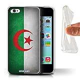 Stuff4 Coque Gel TPU de Coque pour Apple iPhone 5C / Algérie Design/Drapeau Collection
