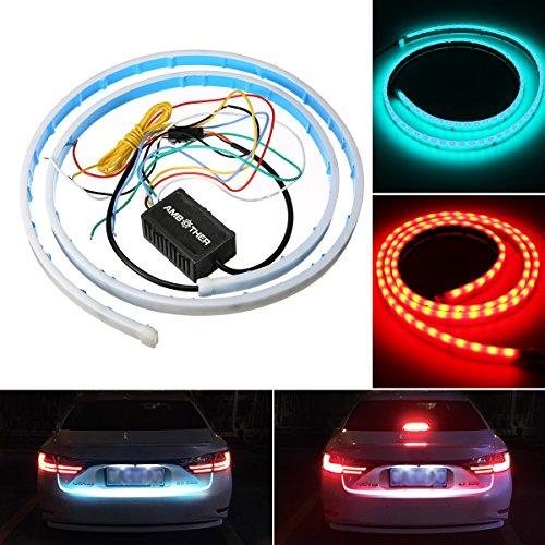 AMBOTHER-Auto-Rckleuchten-Rcklicht-LED-streifen-Atmosphre-Strip-Licht-Auto-Zubehr-Heckleuchte-Stopp-Anzeige-Licht-Warnleuchten-Strobe-Blitzlicht-mit-Dual-Farbe-Tagfahrlicht-Wasserdichtes-DC-12V