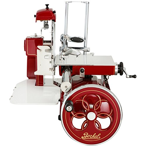 Berkel – Flywheel Slicer B3 with Flower Flywheel – Berkel Red with Golded Decoration – 2018 New Model