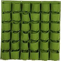 MORESAVE Colgar en la Pared Bolsas de siembra Jardinería Colgante de Flores Sombra de Fieltro Olla Contenedor de Flores Verde