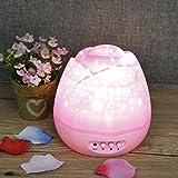 360Grad drehbar Moon Star 4LED Decken Projektor Nachtlicht Lampe Beleuchtung Creative Baby Kinderzimmer Schlafzimmer Kinder Stimmungslicht & Weihnachten Geschenk rose