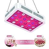 TOPLANET LED Pflanzenlampe 600W Led Grow Lampe UV IR Vollspektrum mit Veg & Bloom Dual Kanal Reflektor Pflanzenlicht für...
