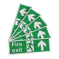 Fire Escape Location Stickers 5 Stickers (Arrow Up) - PVC-Free Vinyl Stickers