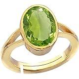 #9: Gemorio Peridot 3cts or 3.25ratti Panchdhatu Adjustable Ring For Men