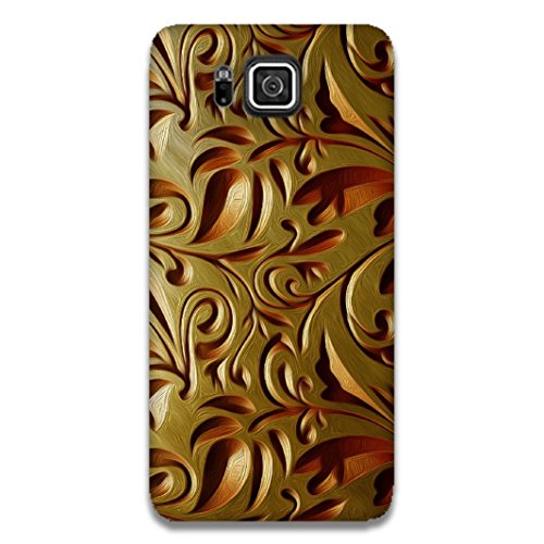 The Racoon Lean printed designer hard back mobile phone case cover for Samsung Galaxy Alpha. (Gold Weave)  available at amazon for Rs.99