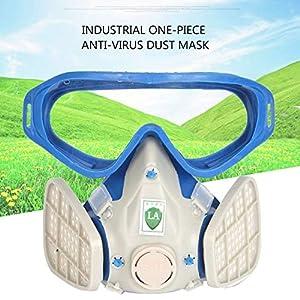 Lorenlli Atemschutzmaske mit Vollgesichtsmaske und Schutzbrille Farbe chemisch staubdicht Schutzmaske Arbeitsplatz Sicherheitszubehör