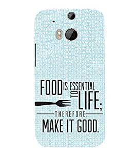 FUSON Food Make It Good 3D Hard Polycarbonate Designer Back Case Cover for HTC One M8 :: HTC M8 :: HTC One M8 Eye :: HTC One M8 Dual Sim :: HTC One M8s