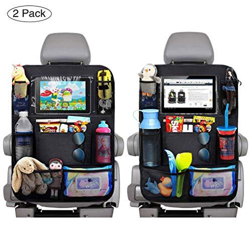 Auto Rückenlehnenschutz, Auto Rücksitz-Organizer für Kinder, Wasserdicht Autositz Rückenlehnenschutz, Multifunktionen Große Taschen und iPad-/Tablet-Halter -