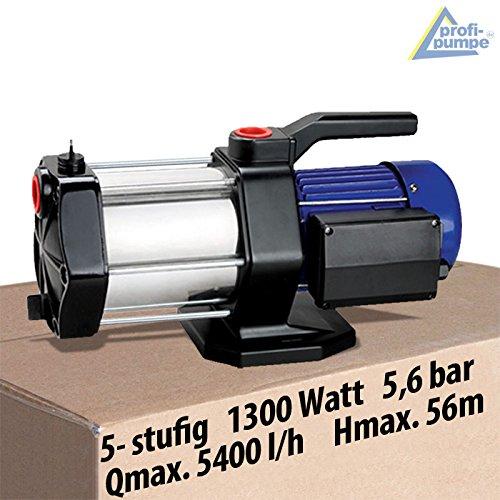 HAUSWASSERWERK KREISELPUMPE AQUA INNO-TEC 1300Watt mit max. 5,6bar und max. 5,5cbm/h, 5-Stufige Pumpe für Klarwasser zur Hauswasser- und Brauchwasserversorgung