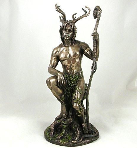Unbekannt 'Herne the Hunter' Bronze Statue männlicher Akt Pagan Herr des Waldes bronziert Figur
