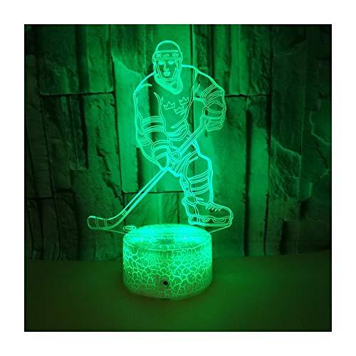Stimmungslichter Hockey Sieben Farbe Weihnachtsdekoration Geschenk Mini Lampe Fernbedienung Schalter (Minion Hockey)