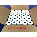 Dehmy 58MMx25Mtr(2Inch) Thermal Paper roll (Set of 25 Rolls)