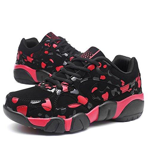 GESIMEI Décontractée Baskets Mignonne Couple Fonctionnement Chaussures Poids léger pour Femmes/ Les adolescents (Veuillez vérifier le tableau des tailles sous l'image principale) Rouge