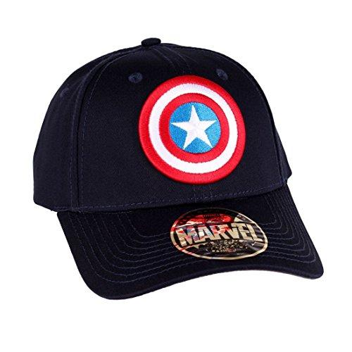 Captain America Cap Shield Logo Marvel blue