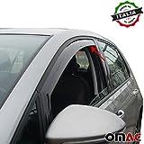 VW GOLF VII Deflettori D' aria Deflettore pioggia 2pezzi set anteriore a partire dal 2013