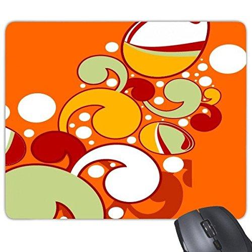 DIYthinker Ostern Religion Christentum Festival Niedlich, Rot, Gelb, Grün, Weiß gefärbtes Ei Kultur Illustration Muster Rechteck Griffige Gummi Mousepad Spiel-Mausunterlage