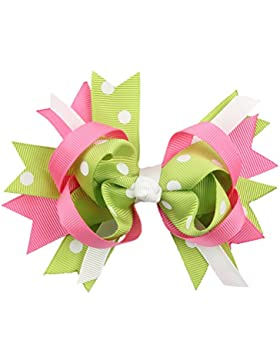 Zhhlaixing Kids Bow Polka Dot Hair Bow Baby Girls Hair Clips Baby Accessories