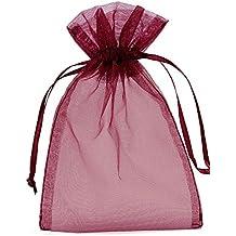 fd8516f35 20 Bolsas de Organza con Cinta de Raso para Vestir, tamaño 30 x 15 cm
