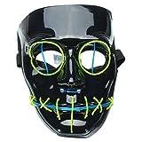 Di&Mi & Mi LED Leuchten el Wire Alambre máscara Cosplay Disfraz Máscara...