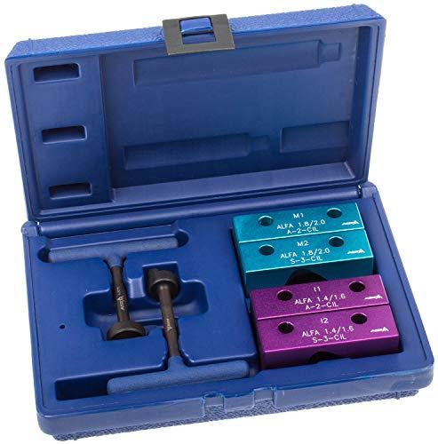Preisvergleich Produktbild A-8078 Motor Einstell Werkzeug Satz für Alfa Romeo 1.4 1.6 1.8 und 2.0L 16V Motor Steuerzeiten Zahnriemenwechsel Zahnriemen-Werkzeug Motorreparatur Arretierwerkzeuge Nockenwellen Arretierung Fixierung Fixierwerkzeug