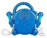 Idena Lecteur CD Sing Along, avec Deux Microphones et écran LED, Bleu