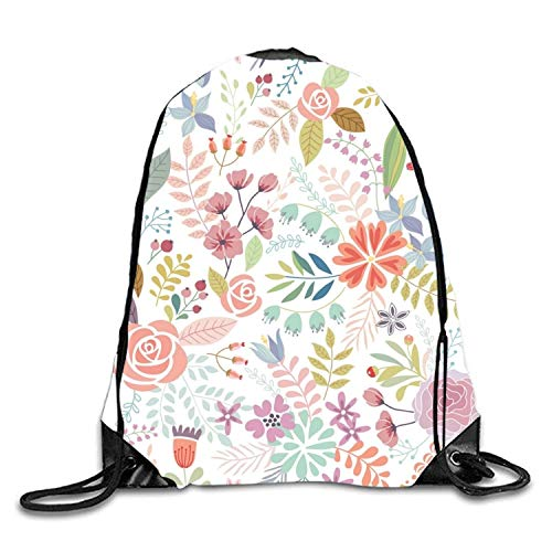 ucksäcke, Yellow Daffodil Sackpack Drawstring Backpack Waterproof Gymsack Daypack for Men Women Bright Flowers4 Lightweight Unique 17x14 IN ()