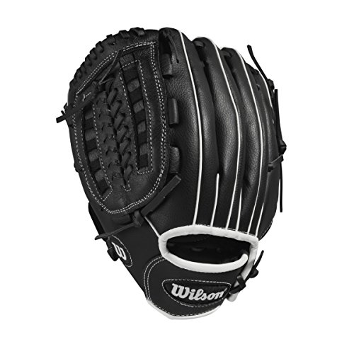 Wilson Unisex-Youth A360 11 Baseball/Softball Gloves, Black Gold (Zoll Softball-handschuh-11)