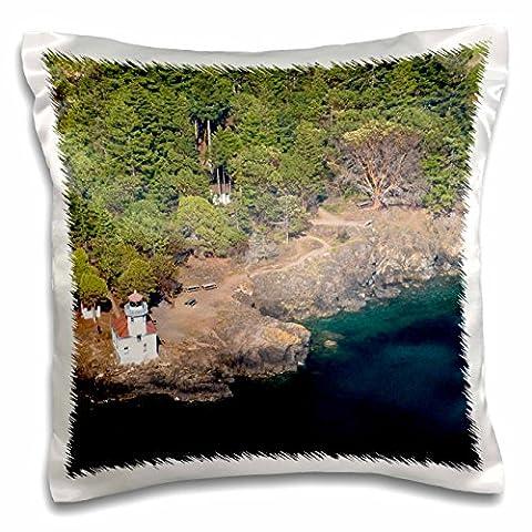 Danita Delimont - Lighthouses - WA, San Juan Island. Lime Kiln Point lighthouse - US48 TDR0801 - Trish Drury - 16x16 inch Pillow Case (pc_96953_1)