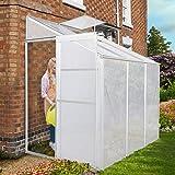 Jago Serra giardino orto piante alluminio e policarbonato base ca. 2,3 m² con 1 finestra di ventilazione