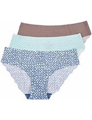 La Isla - Braguita de Talle Bajo Bikini Para Mujer, Pack de 3