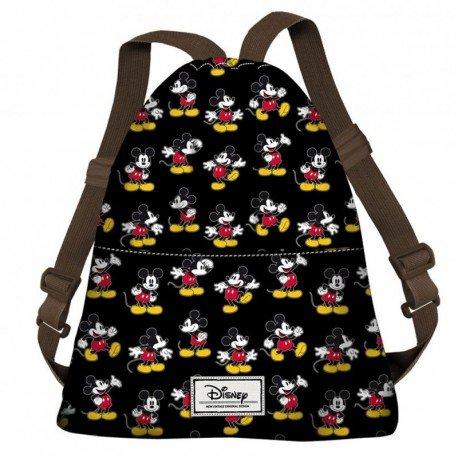 Karactermania Disney Classic Mickey Moving Bolsa de Cuerdas para El Gimnasio, 42 cm, Negro