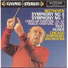 Beethoven : Symphonies n° 5 et n° 7 - Ouvertures de Coriolan et de Fidelio [Import anglais]